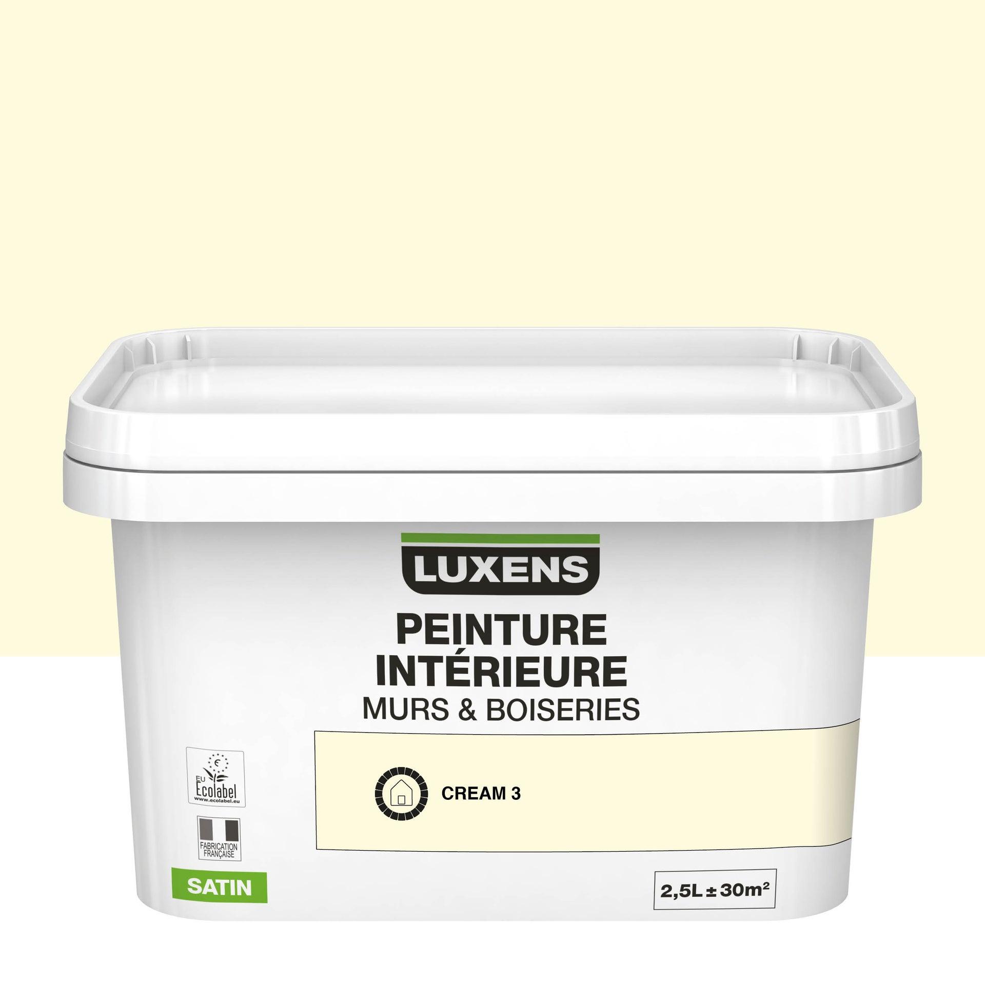 Luxens Peinture Plafond Interieur Luxens Blanc Satine 2 5 L En 2020