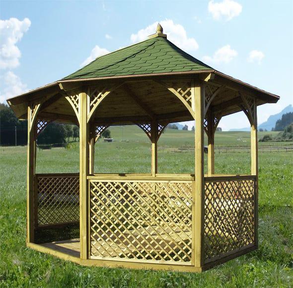 Kiosque Pour Terrasse Ou Balcon Ki M36 Bois Naturel Leroy Merlin