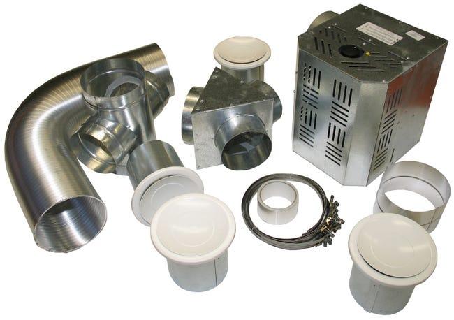 Kit de distribution d'air chaud DMO, débit de 300 à 550 m3/h, 4 bouches d'air