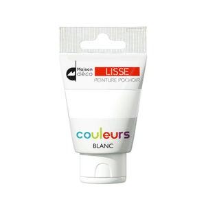 Image : Peinture pochoirs blanc satin MAISON DECO Peinture pochoir couleur 0.06 l