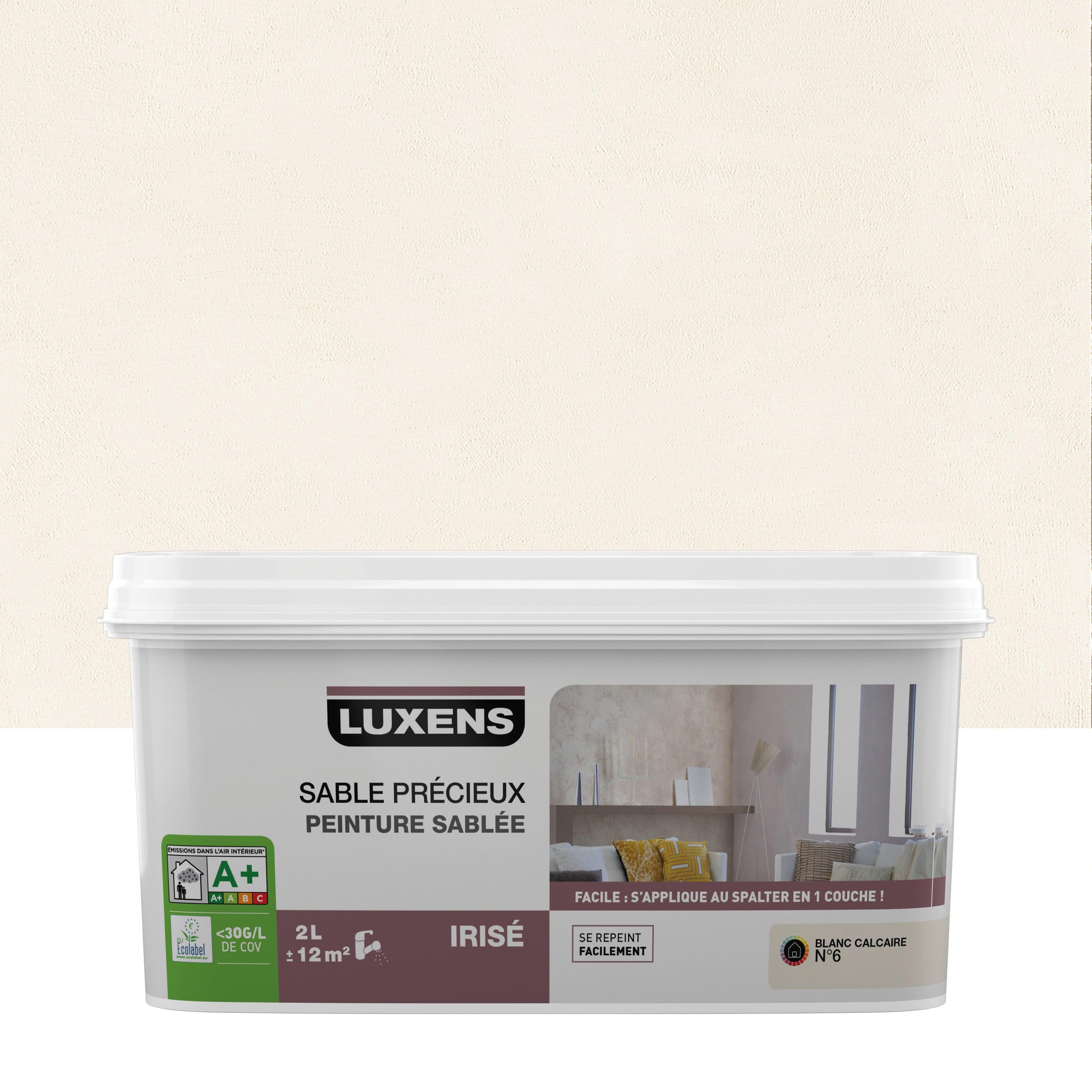 Peinture A Effet Sable Precieux Luxens Blanc Calcaire 6 2 L Leroy Merlin