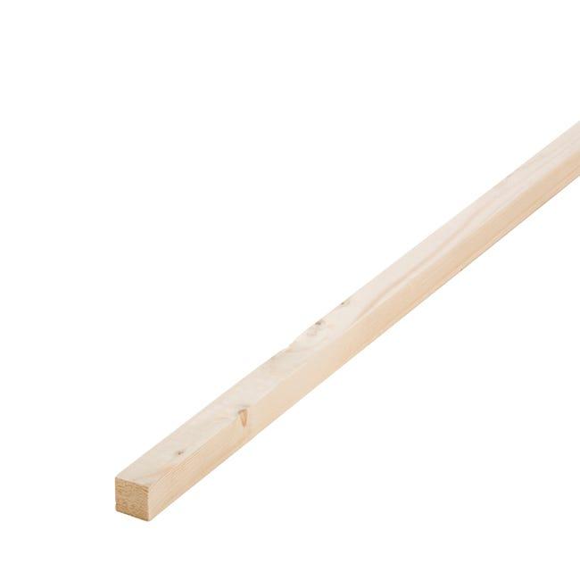 Tasseau sapin petits noeuds raboté, 27 x 27 mm, L.2.4 m