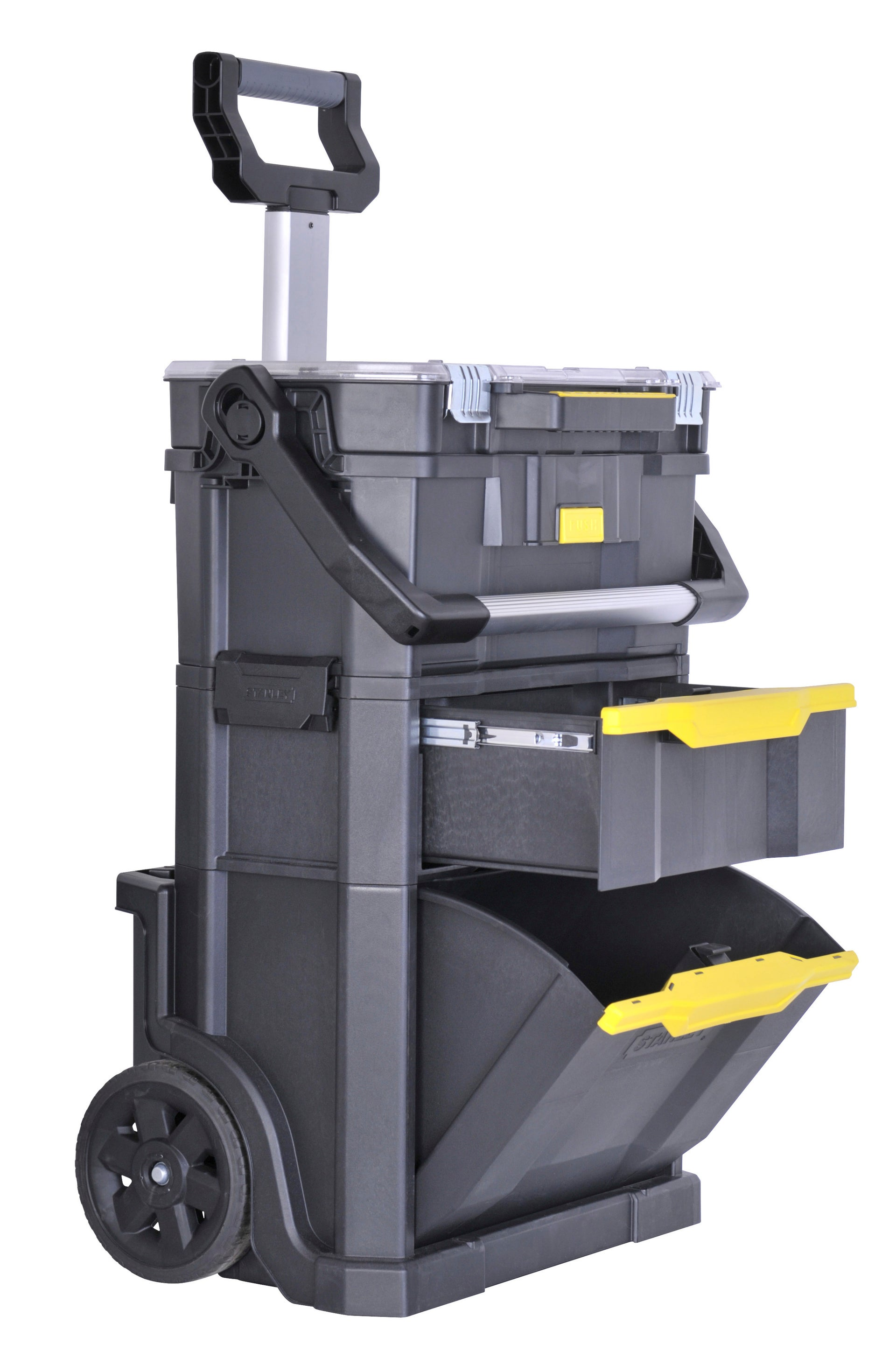 Servante de chantier STANLEY MODULO 2 EN 1 plastique, L.50 cm