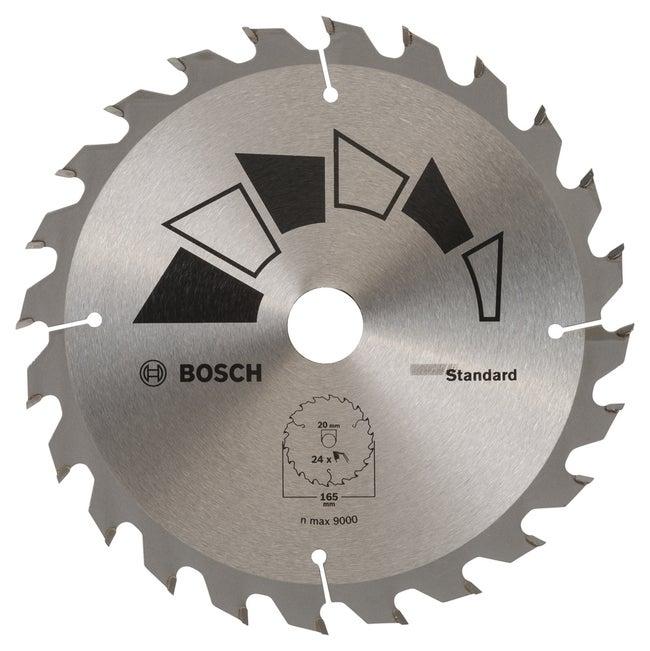 Lame Coupe Rapide Et Grossière Bosch 165 Mm 24 Dents Scie Circulaire Standard