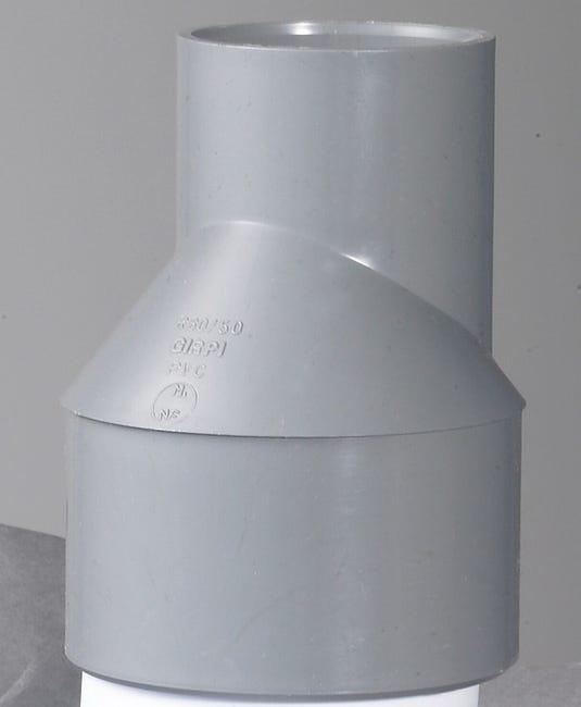 Reduction Excentree Male Femelle Pvc Diam 80 50 Mm Girpi Leroy Merlin