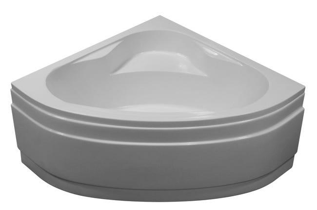 Baignoire D Angle L 140x L 140 Cm Blanc Sensea Access Confort