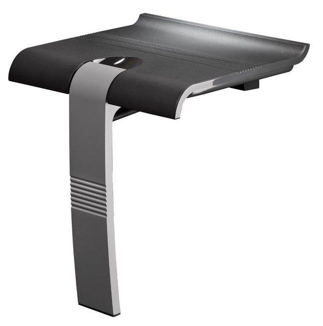 Siege De Douche A Fixer Relevable Aluminium Design Leroy Merlin