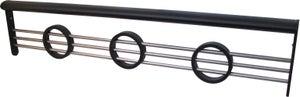Barre d'appui pour pose en tableau aluminium laqué, BALORY