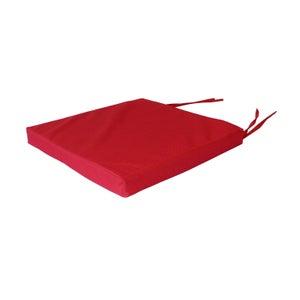 Galette de chaise imperméable Déperlante, rouge l.38 x H.38 cm