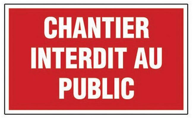 Panneau Chantier Interdit Au Public En Plastique Leroy Merlin