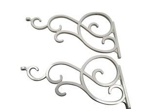 2 décors latéraux en aluminium laqué Ancy, haut. 23cm x larg. 140cm