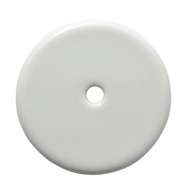 Rosace de fonction porcelaine NOIR BRILLANT Trou cl/é
