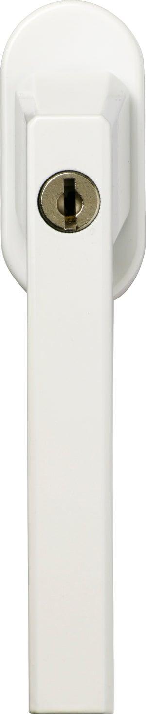 Poignée à clé pour fenêtre ABUS, blanc