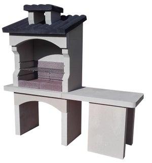 Image : Barbecue gris ardoise, l.62 x L.180 x H.168 cm