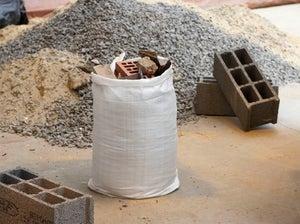 Image : Lot de 5 sacs à gravats GEOLIA 70 l