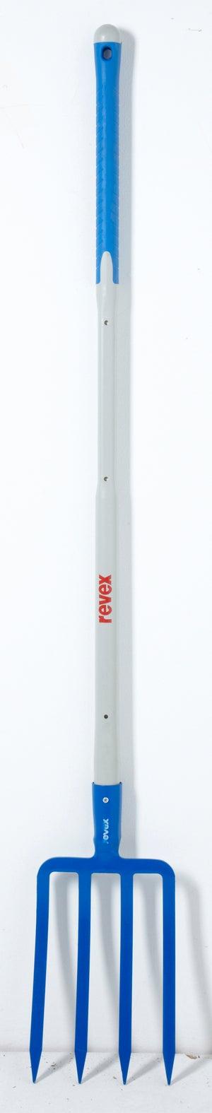 Image : Fourche à bêcher acier forgé REVEX manche composite L.110 cm