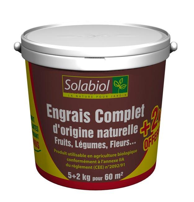 Engrais Complet Solabiol 7kg 60 M Leroy Merlin