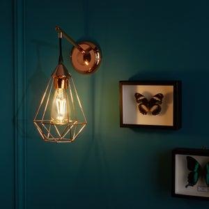Image : Applique métal cuivre INSPIRE Byron 1 lumière(s)