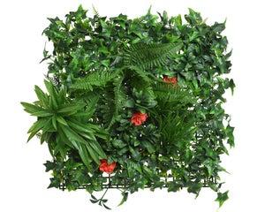 panneau feuilles plastiquesans sac poly 20x50x50cm Vert panneau