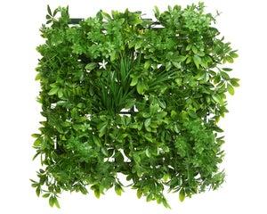panneau feuilles fleures 20x50x50cm vert