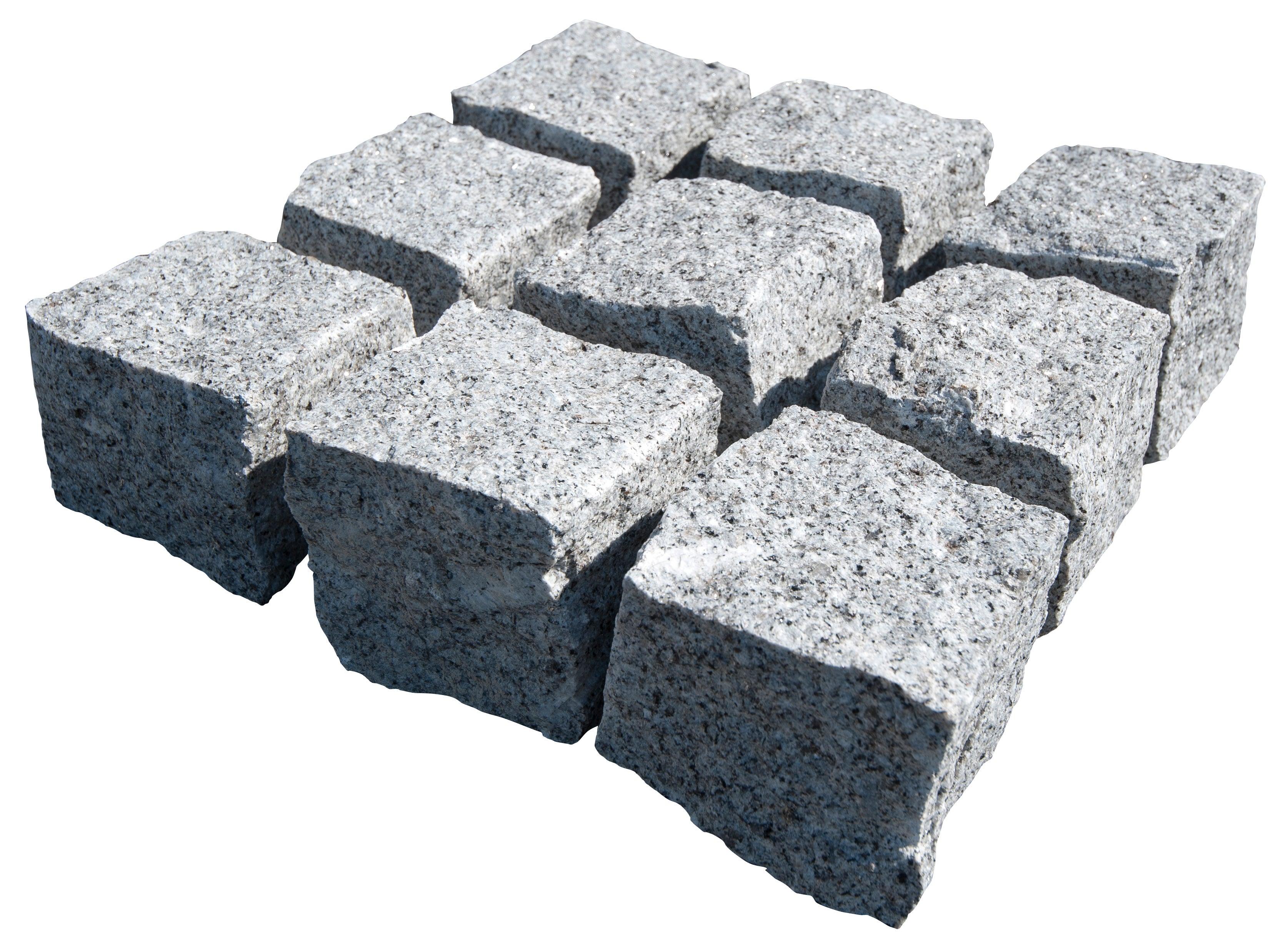 Pave Pierre Naturelle Granit Gris L 10 Cm X L 10 Cm X Ep 50 Mm