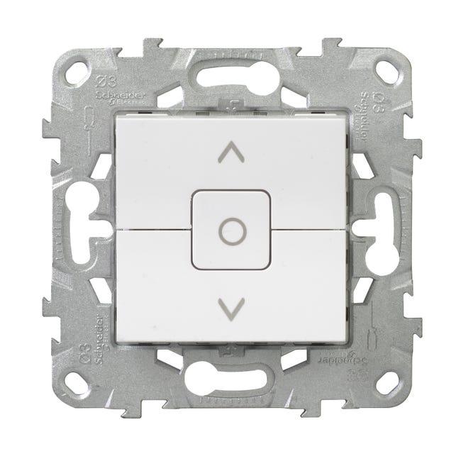Interrupteur Volet Roulant Schneider Electric Unica Blanc Leroy Merlin