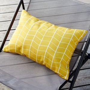 Image : Coussin de jardin Oslo JARDIN PRIVE, jaune/doré l.50 cm