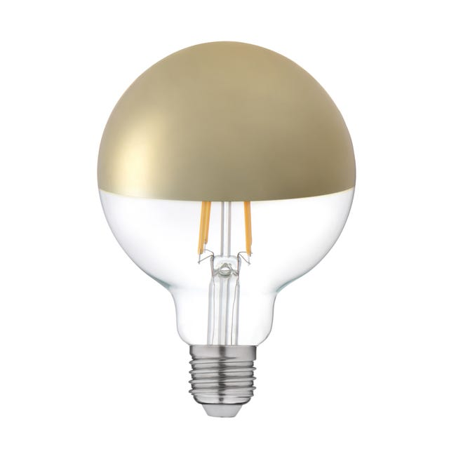Ampoule Decorative Led Or Globe 95 Mm E27 600 Lm 5 5 W Blanc Chaud Lexman Leroy Merlin