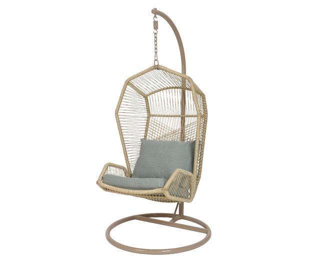 Chaise De Jardin En Polyester Nimbin Suspendue Gris Leroy Merlin