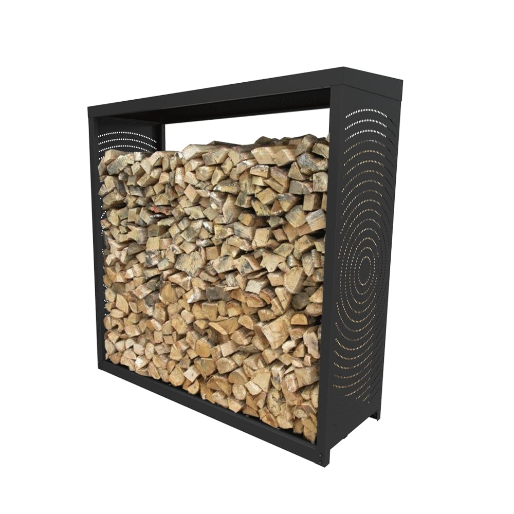 Bucher Noir Dixneuf Woodbox L 70 X H 200 Cm Leroy Merlin