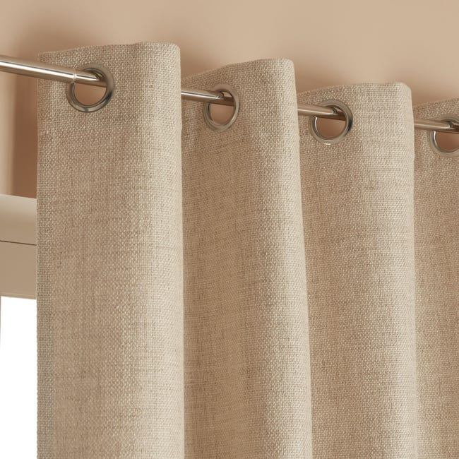 Rideau Tamisant Tricot Beige L 140 X H 250 Cm Leroy Merlin