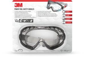Image : Lunettes masque de sécurité pour outillages 3M contre projections, verre incolore