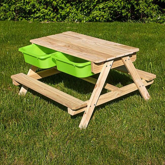 Table Bac à Sable Et Eau Sunny Bois Brun L90 X L50 Cm