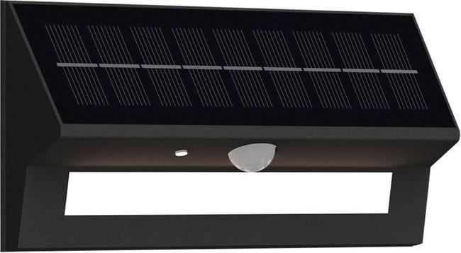 Applique Avec Detecteur De Mouvement Solaire Pulsar 75 A 600 Lumen Noir Leroy Merlin