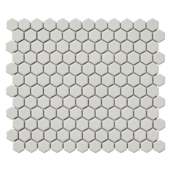 Mosaique Sol Et Mur Hexagon Blanc 30 X 26 Cm Artens Leroy Merlin