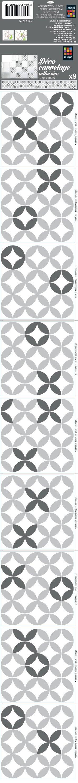 decalmile 10 Pi/èces Stickers Carrelage 3D 30,5cm x 30,5cm Noir Blanc Marbre Mosaique Pierre Carrelage Adh/ésif Mural Cuisine Salle de Bain Carreaux de Ciment Mural D/écoration
