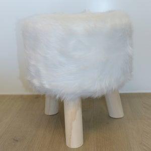 Image : Pouf d'assise de chaise ou de fauteuil, blanc l.30 x H.35 cm