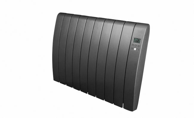 Radiateur Electrique A Inertie Seche 1000w Equation Virtuoso 2 Connect Gris Leroy Merlin