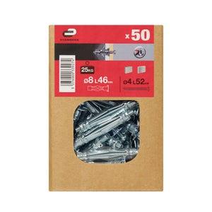 Image : Lot de 50 chevilles à expansion STANDERS, Diam.8 x L.46 mm