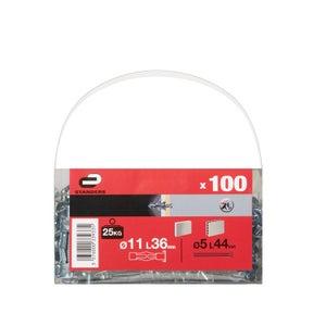 Image : 100 chevilles à expansion STANDERS, Diam.11 x L.36 mm