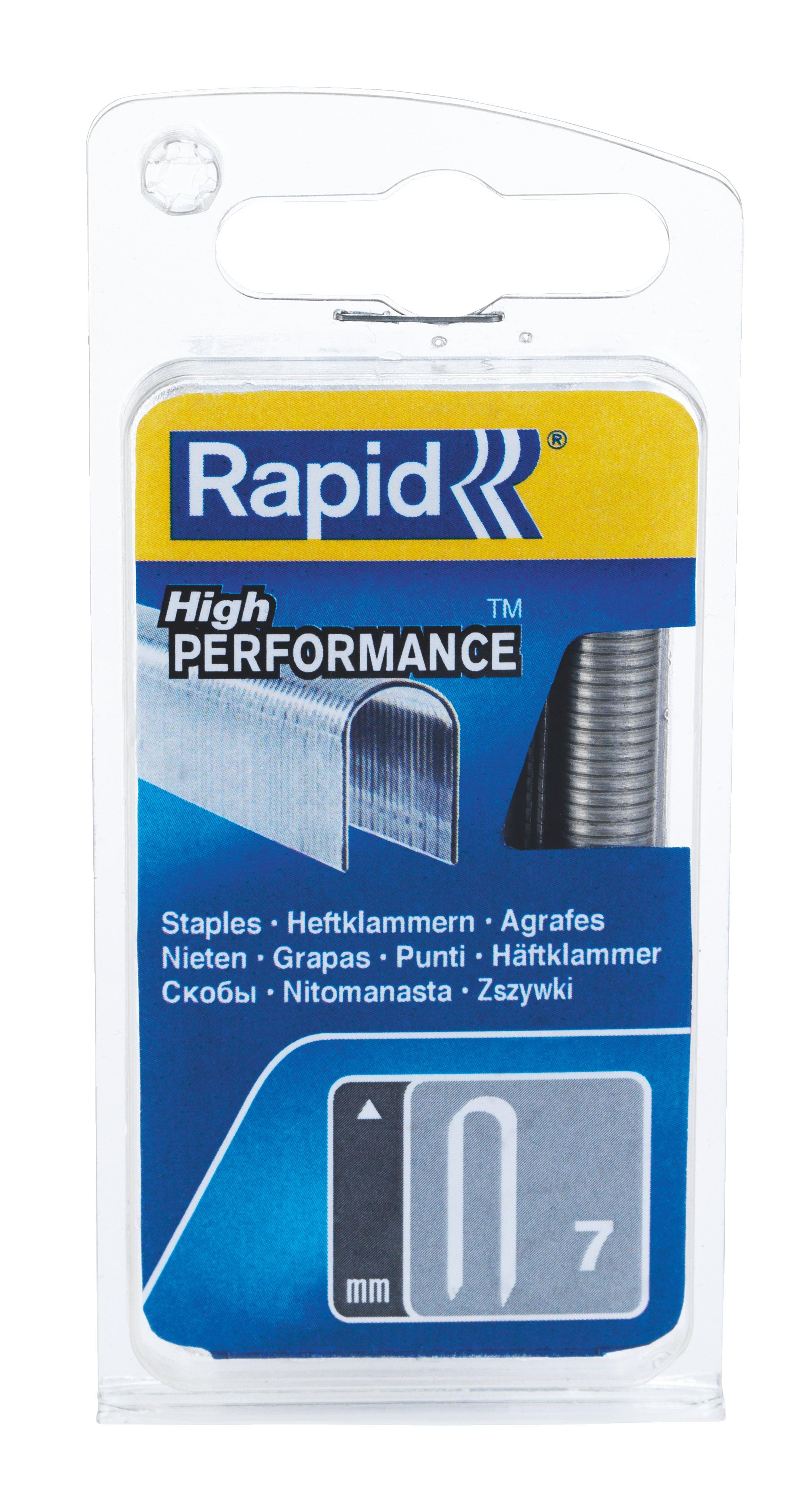 Hauteur 15 mm Pointe n/°9 Rapid Agraf 1000 pointes