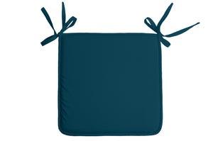 Galette de chaise Nelson, bleu canard l.38 x H.38 cm