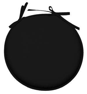 Galette de chaise Nelson forme ronde, noir l.40 x H.40 cm