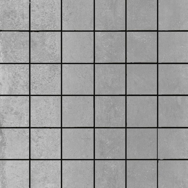 Mosaique Sol Et Mur Allure Gris 30 X 30 Cm Leroy Merlin