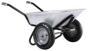 Image : Brouette 2 roues acier galvanisé Aktiv excellium twin HAEMMERLIN, 100l, 150kg
