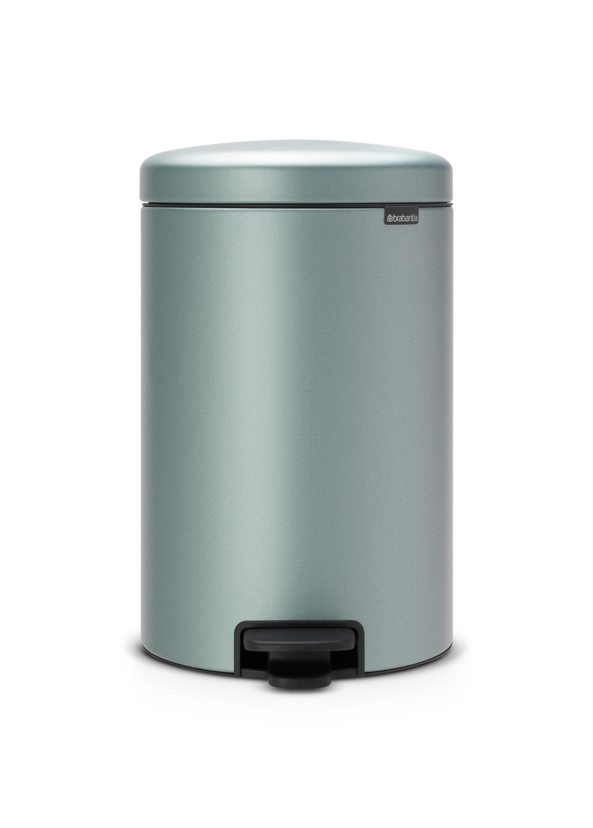 poubelle de cuisine 20 l à pédale brabantia acier inox