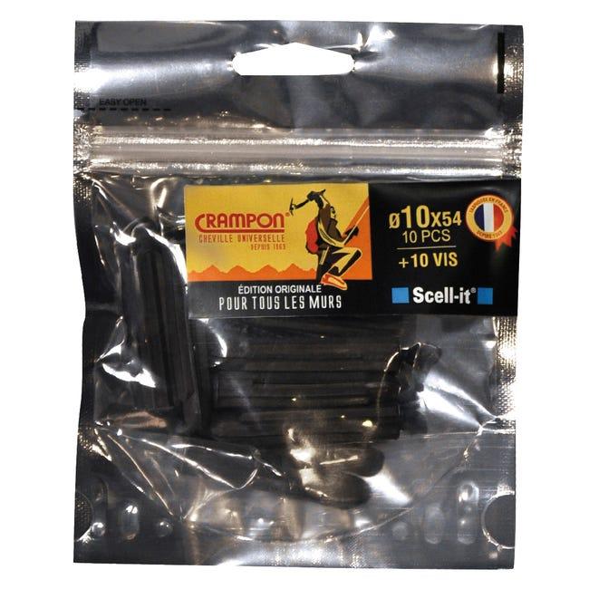 Cheville Et Vis A Expansion Ou A Verrouillage De Forme Scell It Diam 10xl54mm Leroy Merlin