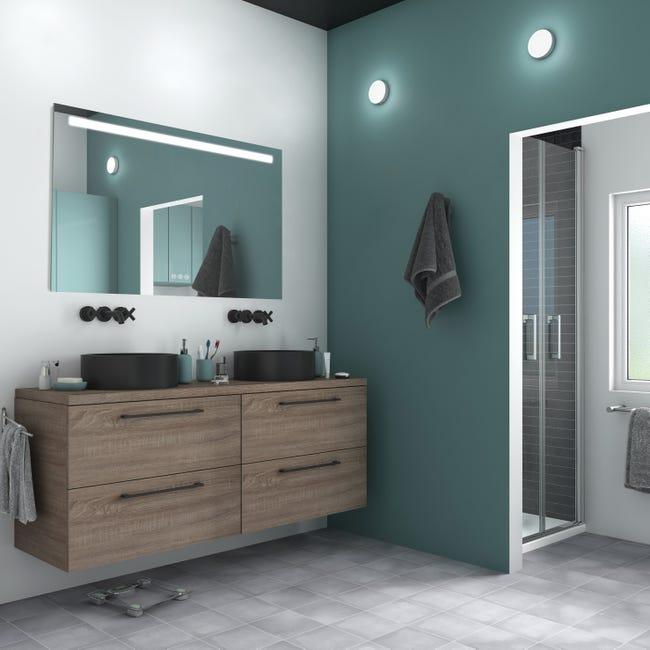Miroir Lumineux Avec Eclairage Integre L 120 X H 70 Cm Remix Leroy Merlin