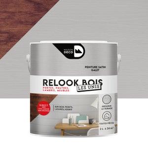 Lasure intérieure poutre et lambris Relook bois MAISON DECO, 2 l, galet