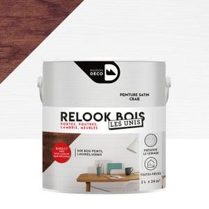 Lasure intérieure poutre et lambris Relook bois MAISON DECO, 2 l, craie